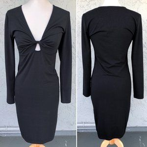 Forever 21 Twist Keyhole Front Bodycon Dress Black